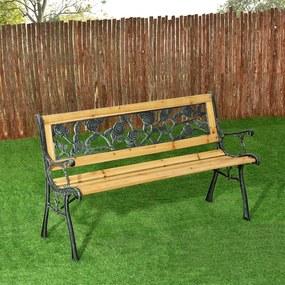 2-személyes Venezia kerti pad lakkozott fából fém elemekkel