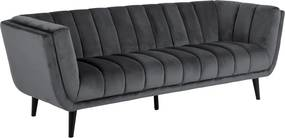 Háromszemélyes kanapé Raquel sötétszürke