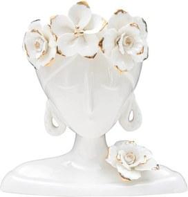 Young Woman fehér porcelán váza - Mauro Ferretti