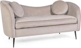 CANDIS szürke bársony kanapé