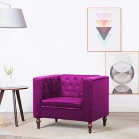 Lila bársony kárpitozású fotel 86 x 67 x 71 cm