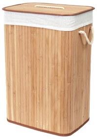 Rectangular bambusz szennyeskosár - Compactor