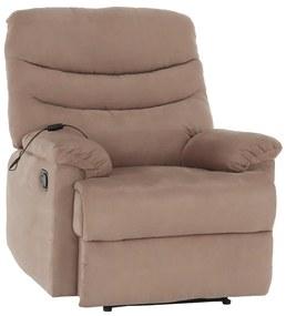 Állítható masszázs fotel, szürke-bézs Taupe, LAMBERT