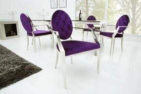 Modern Barock szék lila karfával