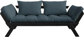 Bebop Black/Petrol Blue olajkék kinyitható kanapé - Karup Design