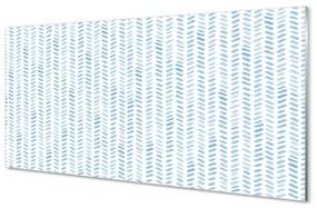 Üvegképek Kék csíkos halszálkás 140x70 cm