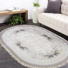 Ovális csúszásgátló szőnyeg bézs színben Szélesség: 180 cm | Hossz: 280 cm