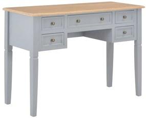 vidaXL szürke fa íróasztal 109,5 x 45 x 77,5 cm