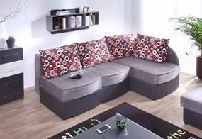 FIGARO ágyazható sarok ülőgarnitúra, 86x202x145 cm, grafit/hamu, 2-es szövet, jobbos