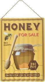 Dekorációs hullámos lemeztábla, méz