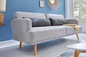 Ágyazható kanapé Annika, 214 cm, szürke