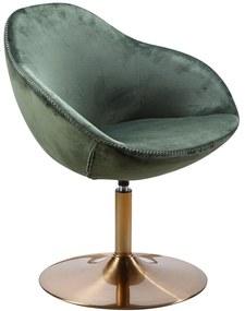 SARIN modern bársony fotel - zöld