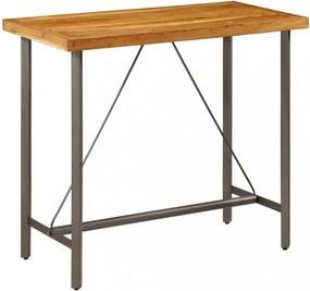 Újrahasznosított tömör tíkfa bárasztal 120 x 58 x 106 cm