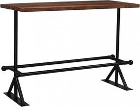 Sötétbarna újrahasznosított fa bárasztal 150 x 70 x 107 cm