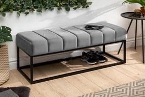 Stílusos ülőpad Halle 108 cm bársony - ezüstszürke