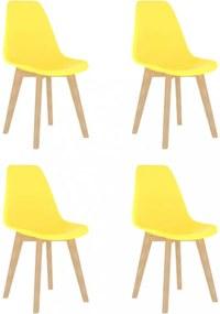 4 db sárga műanyag étkezőszék