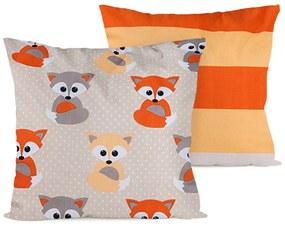 4Home Little Fox párnahuzat, 2 db 40 x 40 cm, 40 x 40 cm