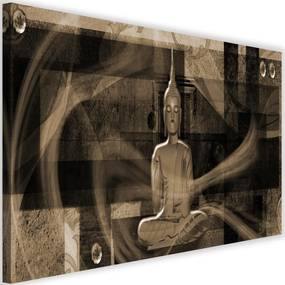 Modern kép 120x80cm – Buddha Figure Geometric Background