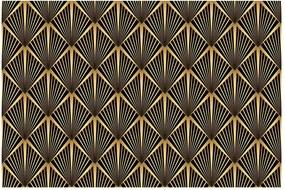 Draka fekete-aranyszínű dekorációs bútortapéta - Ambiance