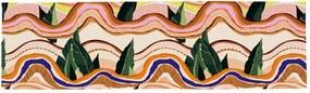 Abstract Landscape pamut asztali futó - Butter Kings