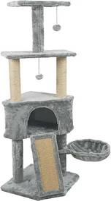 Macska mászóka-szürke