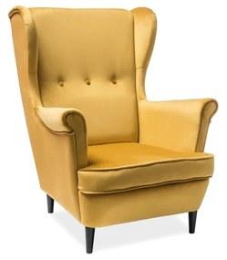 ARISTO Velvet fotel, 81x101x85, bluvel 68