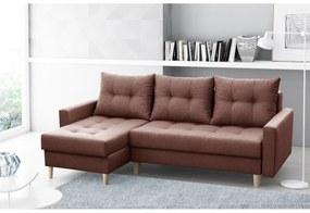 NAZIO TWO ágyazható sarok ülőgarnitúra, 220x90x140, malmo 25