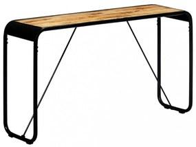 Tömör, nyers mangófa tálalóasztal 140 x 35 x 76 cm