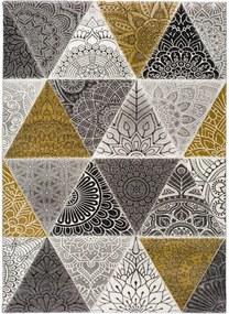 Amy Grey szürke-sárga szőnyeg, 160 x 230 cm - Universal
