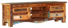 Tömör újrahasznosított fa tv-szekrény 120 x 30 x 40 cm