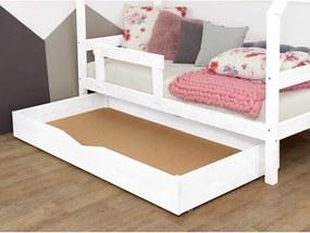 Buddyn fehér fa ágy alatti rácsos fiók teljes alappal, 80 x 140 cm - Benlemi