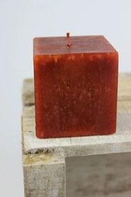 Barna kocka alakú illatos gyertya