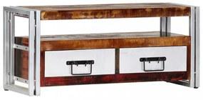 Tömör újrahasznosított fa tv-szekrény 90 x 30 x 40 cm