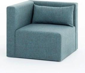 Plus Sarok kék egyszemélyes kanapé
