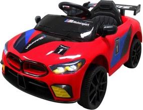 Elektromos beülős cabrio GT sport autó gyerekeknek, piros