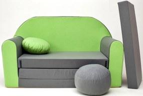 Forest gyermekkanapé - zöld-szürke A 1+ Sofa gray-green