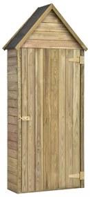 Kerti impregnált fenyőfa szerszámtároló ajtóval 77x37x178 cm