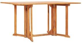 vidaXL tömör tíkfa lehajtható lapú kerti asztal 150 x 90 x 75 cm