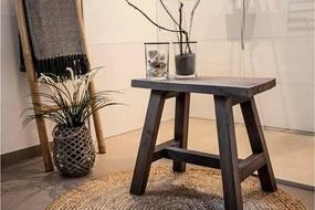 Stílusos ülőpad Brenda 50 cm tíkfa