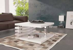 GUIDE dohányzóasztal, 60x31x60 cm, fehér