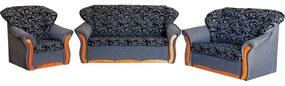 Evelin alíz 3+1+1 garnitúra ágyazható, nappali bútor gr024 (sötét szürke)