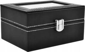 3 részes óratartó doboz, fekete