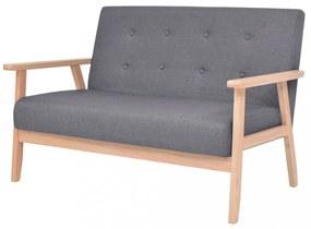 2 személyes sötét szürke szövet kanapé