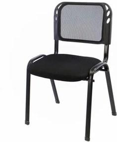 Rakásolható kongresszusi szék - fekete