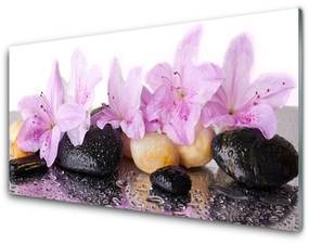 Akril üveg kép Rózsaszín liliom virág 140x70 cm