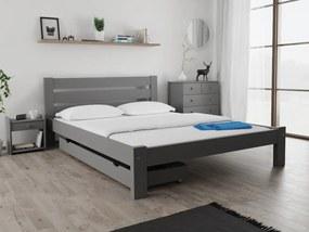 Maxi Drew Amelia ágy 120 x 200 cm, szürke Ágyrács: Ágyrács nélkül, Matrac: Somnia 17 cm matraccal