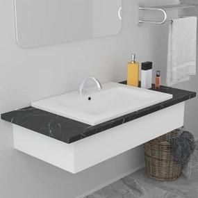 Fehér kerámia beépíthető mosdókagyló 61 x 39,5 x 18,5 cm