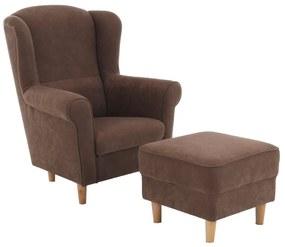 Fotel + puff, barna, ASTRID