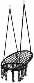 Függőszék, függőhinta 150kg-os teherbítással (fekete)