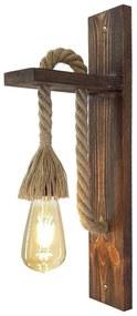 Ahsap falilámpa fából